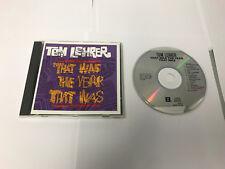 Tom Lehrer: Tom Lehrer: That Was The Year That Was: (CD) EX/EX 075992743426