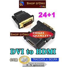 Adattatore DVI-D 24+1 poli to HDMI audio video connettore per cavo Monitor HD TV