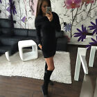 Womens Ladies Bodycon Cocktail Party Mini Dress Long Sleeve Tunic Jumper Top Hot