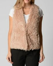 Beautiful Fluffy Tan Ladies Vest- Excellent Quality Size 16