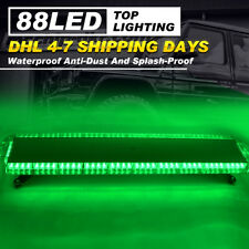 Car Strobe Lights 88 LED Flashing Bar Emergency Warning Hazard Dash Lamps Green
