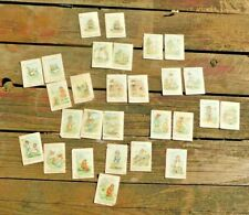 TRUE ANTIQUE1800's  VICTORIAN CHILD'S MATCHING NURSERY RHYME CARD GAME