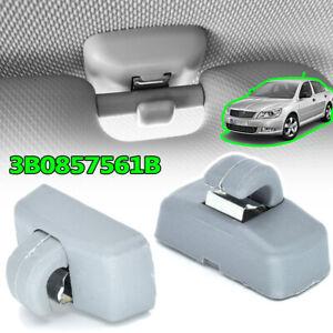 2X Sun Visor Clip For VW Transporter T4 T5 Amrok Beetle Bora Caddy Eos Golf Lupo