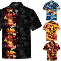 Chemise Hawaïenne Homme / 100% Coton / Taille S – 8XL / Plage / Soleil / Hawaii