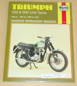 Haynes Reperaturbuch Instruction manual Triumph 500 unit 1958-74 Daytona T100
