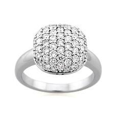9ct White Gold Diamond Dress Ring.