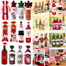Christmas Santa Claus Wine Bottle Cover Champagne Gift Bag Table Party Decor