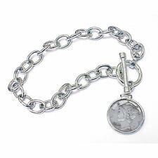 NEW  Year to Remember Sterling Silver Toggle Dime Coin Bracelet 1992
