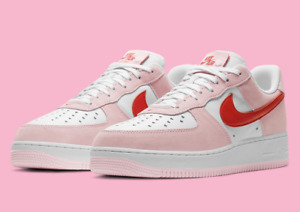 Nike Air Force 1 '07 QS Shoes Valentines Day Love Letter Pink DD3384-600 Men's