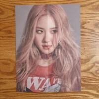 Rose Official Mini Poster BlackPink Kill This Love Folded Kpop Genuine