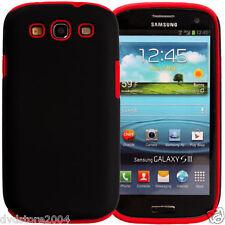 Custodia IBRIDA ROSSA per Samsung Galaxy S3 I9300 I9300I NEO I9305 Cover Bumper