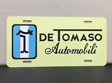 DE TOMASO MANGUSTA PANTERA AUTOMOBILI LICENSE PLATE