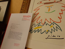 PABLO PICASSO LITHOGRAPH OLD 1965 LIMITED EDITION + COA