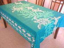 Lawai & Sea Turtle Hawaiian Quilt Print Water Resist Hawaii Tablecloth 60x108 TL