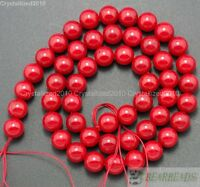 Natural Gemstone Red Coral Round Spacer Beads 2mm 3mm 4mm 5mm 6mm 7mm 8mm 16""