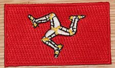 ISLE OF MAN Country Flag Embroidered PATCH