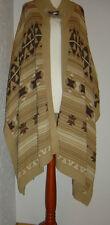 Original RALPH LAUREN Poncho Cape Manteau Coton Lin Taille L/XL