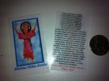 SMALL HOLY PRAYER CARDS FOR THE DIVINE CHILD JESUS IN SPANISH SET OF 2
