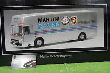 MERCEDES RENN TRANSPORTER MARTINI RACING PORSCHE au 1/18 SCHUCO 450032100 camion