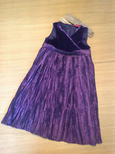 Tiger Lily Girls Purple Dress Age 4 Christmas Velvet Formal Smart Party bridesma