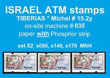 Israel ATM TIBERIAS * with PH * 035 * set 90/140/170 MNH * Klussendorf FRAMA