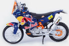 DAKAR RALLY REDBULL KTM SXF 450 1:18 Die-Cast Enduro Toy Model Bike blue