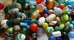 Assorted Colours~Mixed~Glass~Lampwork~Foil~Seed Beads~ 200 grams~***UK SELLER***