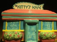 Beautiful 1994 Omnibus Kitty's Kafe Cookie Jar