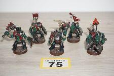 Warhammer 40k Space Orks-Orko Nobz X 5 & Gretchin-Lote 75 Pintado & basado