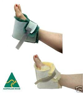 Medical Sheepskin Heel Protector Wool Boot Sheep Skin Foot Pressure Pad Unisex