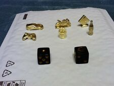 Monopoly Empire Gold Token Mover Dice Replacement Pieces Jewelry Craft Charm Box