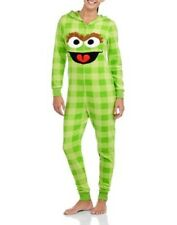 Sesame Street Oscar the Grouch Hooded Non Footed Pajamas 3D 1 PC S NEW LAST ONE