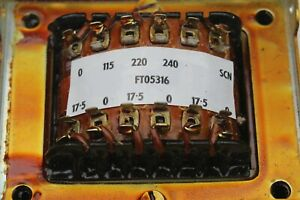 CLEARANCE. 17.5V TRANSFORMER, 3 OUTPUTS, 3 VOLTAGE INPUTS, BRAND NEW, BOXED