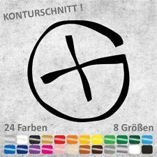 Geocaching Logo Aufkleber Sticker (8 Größen / 24 Farben)