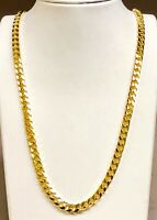 "10k Solid Yellow Gold Miami Cuban Curb Link 22.5"" 7 mm 60 grams chain/Necklace"