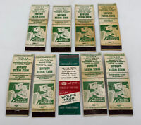 Vintage Auto Repair Matchbook Cover Wolf's Head Motor Oil Lot Of 9 Car 20-180