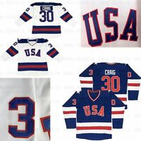 Jim Craig #30 Miracle On Ice 1980 USA Olympic Hockey Jersey Stitched