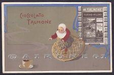 TALMONE CIOCCOLATO 03 Illustratore ROSSOTTI Cartolina PUBBLICITARIA circa 1900