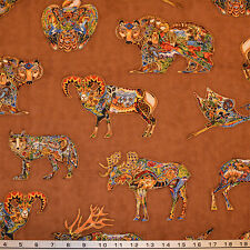 Robert Kaufman Earth By Sue Coccia From Animals Spirits 2 Quilting Crafting