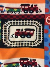 "Train railroad fleece fabric, 60"" wide Sold by the yard"