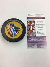 Kevin Stevens Pittsburgh Penguins Autographed Puck! JSA COA!