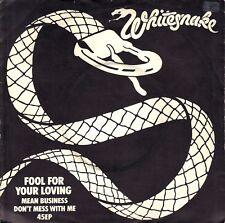 """7"""" Whitesnake (Deep Purple) - Fool For Your Loving / Center Intact // UK 1980"""
