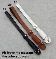 Genuine Leather Handle Belt Grip Wrist Digital Camera Strap For DSLR SLR
