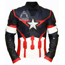 Captain America Civil War Real Genuine Cowhide Leather Motorcycle Jacket
