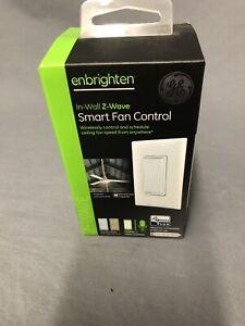 GE 14287 Z-Wave Plus Wireless Smart Fan Control - White/Light Almond