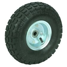 10 in. Pneumatic Tire with White Hub for mini bike, go kart and more