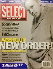 SELECT MAGAZINE Sept '93 NEW ORDER PERRY FARRELL LOLLAPALOOZA EX COND