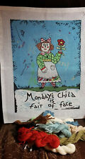 Monday's Child is Fair of Face Handpainted Needlepoint Canvas Maggie Fibers B6