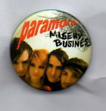 PARAMORE MISERY BUSINESS BUTTON BADGE -AMERICAN ROCK BAND - RIOT! BRAND NEW EYES