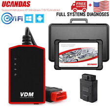 UCANDAS VDM WIFI OBD2 Scanner Full System Automotive Scanner obd2 Code Reader